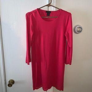 Dark pink quarter sleeve dress